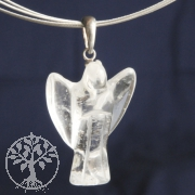 Bergkristall Engel Anhänger 21mm Silber 925