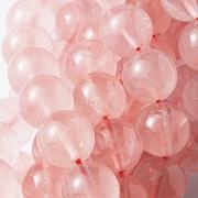Rose Quartz Gemstone Beads, Ball Beads, A Quality