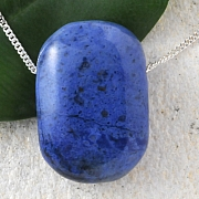 Dumortierite Pendant Rectangled 40x25mm