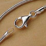 Silberkette Schlange 1,2 x 55cm 925er Silber Kette