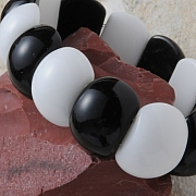 Aragonite Obsidian Bracelett Beatle 20x11mm