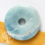 Amazonit Donut Blau Amazonit Anhänger 30mm Scheibe o. Bänderung