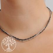Diamant Halsketten Hell/Dunkel