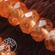 Mandarin Granat Halskette facettiert