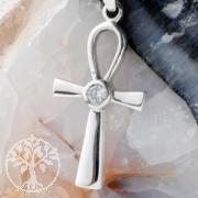 Silver Ankh Cross Pendant