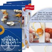 Bastelanleitung Schmuck Basteln Ketten knüpfen mit Perlseide