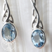 Silver Topaz Earrings Art Nouveau style