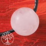 Rosenquarz Kugel Anhänger 12 großes Loch