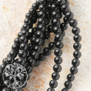 Agate Black Gemstone Beads