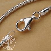 Silberkette Schlange 1,2 x 60cm Kette Silber 925