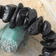 Turmalin Schwarz Schörl Armband Schmuck Mahaba