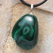 Malachite pendant with loop 925