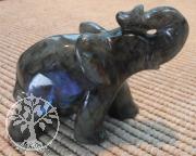 Elefant Steinfigur Labradorit Unikat