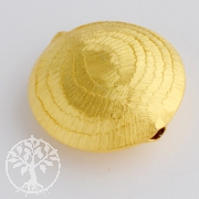 Silver Bead Gold Plated round and flat