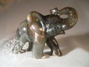 Elefant Labradorit Steinfigur 2 Unikat