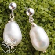 Ohrstecker Silber Perle