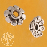Bead Caps Silver oxi sterlingsilver