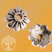 Bead Caps Silver Flower