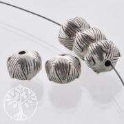Silberperle Button 5 Stück