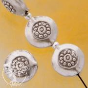 Silber Zwischenteil Disc Blume