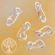 Hakenverschluss 15mm Silberverschluss mit Ringen