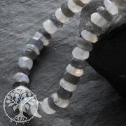 Labradorit mit Mondstein Halskette Schachbrettmuster facettierte Perlen 5mm