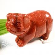 Schwein Goldfluss Steinfigur