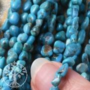 Türkis Perlen Natur 40cm