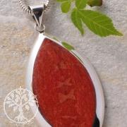 Coral Silver Pendant