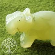China Jade Gemstone Hippopotamus