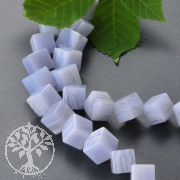 Chalcedon Cube Gemstone Beads