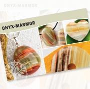 Onyx-Marmor Steine Karte