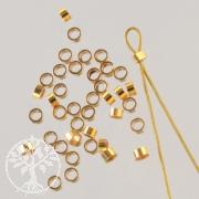 Crimpröhrchen Goldfilled 2x1mm Innen 1.4mm 14K 1/20