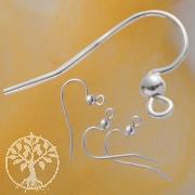 Ohrhaken Perle 20 Stk Silber 925