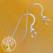 Ear Wire Flat Coil Ball Sterlingsilver