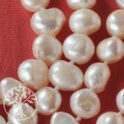 Perlenkette sehr lange Kette XL Weiß Echte Zucht Perlen ca. 160cm lang