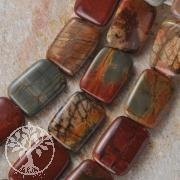 Polychronic Jasper  Beads rectangle 30x20mm 40cm