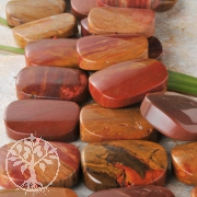 Red Yellow Jasper Gemstone Beads