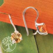 Citrin Silber Ohrringe