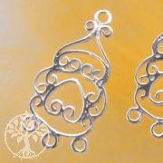 Ohrring Zwischenteil 3 Ringe