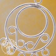 Ohrring Zwischenteil 5 Ringe