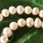 Perlen Reiskorn quer rosa 40cm