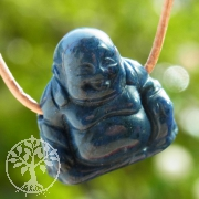 Dumortierit Buddha Figuranhaenger Edelstein