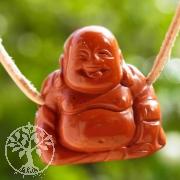 Roter Jaspis Buddha Edelsteinanhaenger