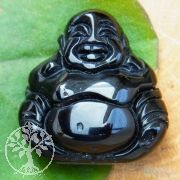Onyx Buddha good luck gemstone
