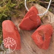 Red Jasper Pendant Rough 3 Pieces