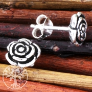 Silver Rose Earstud small 6mm