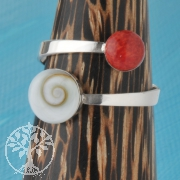 Silver Ring Shiva Coral