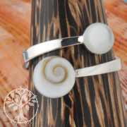 Silver Ring Shiva White
