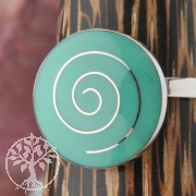 Silver Ring Turquoise Spiral
